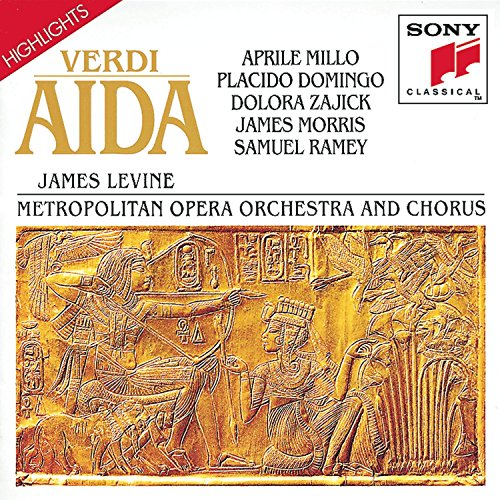 Highlights From Aida (Metropolitan Opera Orchestra and Chorus feat conductor: James Levine; Performers: Aprile Millo, Placido Domingo, Dolora Zajick, James Morris, Samuel Ramey)
