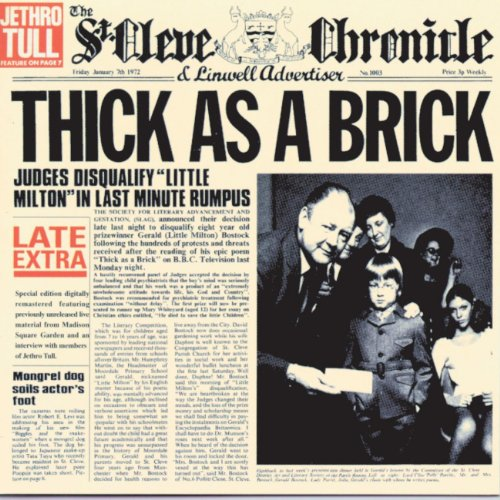 Jethro Tull - Thick As A Brick (25th anniversary edition) - Zortam Music