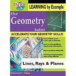 Lines Rays & Planes: Geometry Tutor