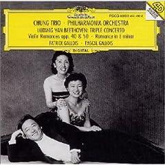 ベートーヴェン : ピアノ、ヴァイオリンとチェロのための三重協奏曲他