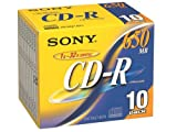 SONY 10CDQ74DN 10枚入りCD-Rメディア74分 650MB 10