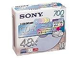 SONY 10CDQ80FPX CD-Rメディア インクジェット対応 カラーレーベル