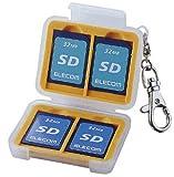ELECOM メモリカードケース(SDメモリーカード2枚収納) DGC-011SD