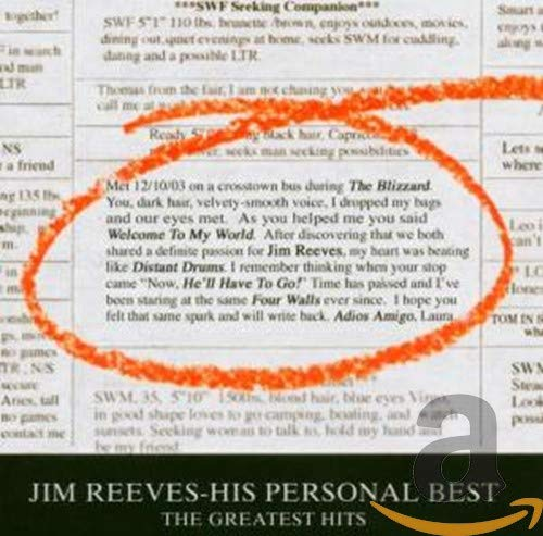 Jim Reeves - His Personal Best: The Greatest Hits - Zortam Music