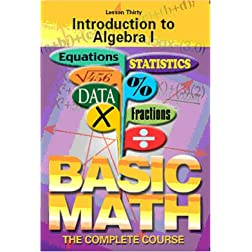 Introduction to Algebra I