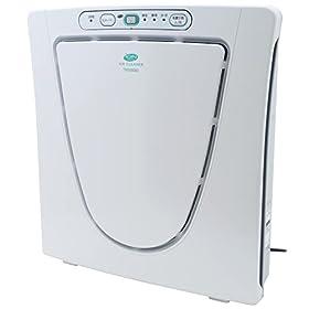 【クリックで詳細表示】TWINBIRD マイナスイオン発生空気清浄機 (12畳) パールホワイト AC-D358PW: ホーム&キッチン