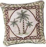 Paradise Palms Palm Tree Trees 18 inch Couch Pillow