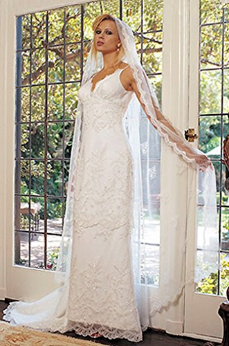 White Satin Wedding Gown