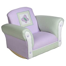 Sweet as a Daisy Upholstered Rocking Chair for kids $85 49