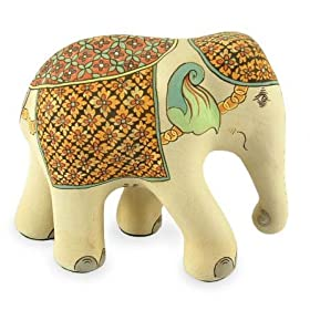 This is not the very ceramic elephant used, but still maybe useful for such a purpose