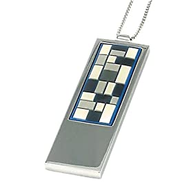 "Amazon.com: Mosaic Necklace featuring stainless steel & rubber. Available in 3 colors and 2 chain lengths (16"" or 18"").: Apparel from amazon.com"