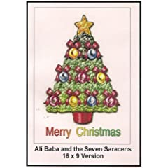 Ali Baba and the Seven Saracen Widescreen TV: Greeting Card: Merry Christmas