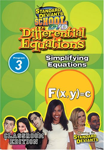 Standard Deviants: Differential Equations Module 3 - Simplifying =