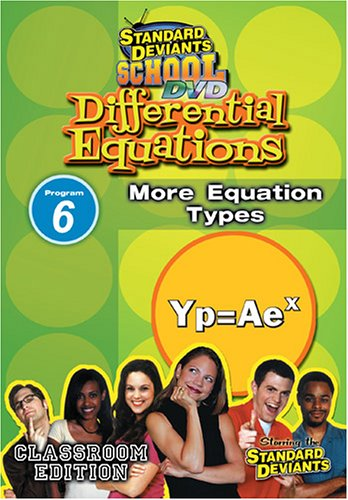 Standard Deviants: Differential Equations Module 6 - More =