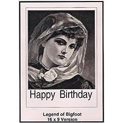 Legend of Bigfoot: 16x9 Widescreen TV: Greeting Card: Happy Birthday