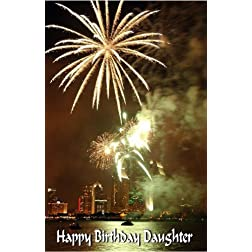 A Boy and His Dog: Greeting Card: Happy Birthday daughter