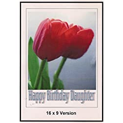 Alice in Wonderland in Paris Wide Screen TV: Greeting Card: Happy Birthday Daughter
