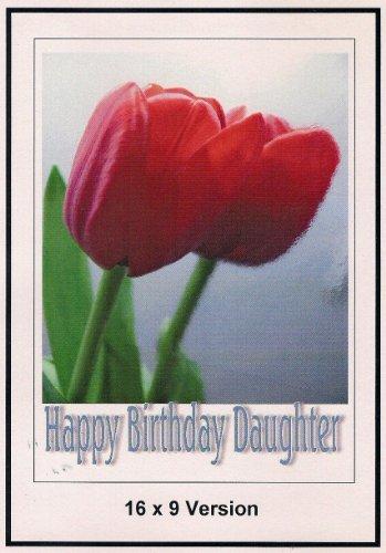 Alice in Wonderland in Paris Wide Screen TV: Greeting Card: Happy Birthday Daughter