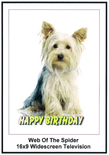 Web of the Spider: 16x9 Widescreen TV.: Greeting Card: Happy Birthday