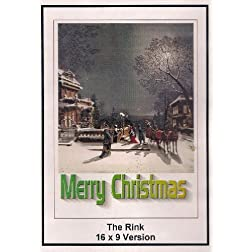 Charles Chaplin: The Rink: 6x9 Widescreen TV.: Mery Christmas
