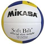 ミカサ カラーバレーボール ホワイト×イエロー×ブルー MVP400