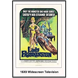 Lady Frankenstien: 16x9 Widescreen TV.