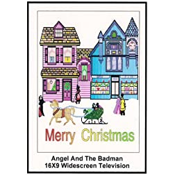 Angel and The Badman Widescreen TV: Greeting Card: Merry christmas