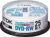 TDK DVD-RW録画用 1~2倍速対応ホワイトプリンタブル25枚パック [DVD-RW120PWX25PK]