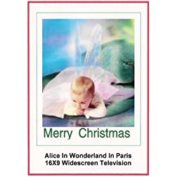 Alice In Wonderland In Paris: Greeting Card: Merry Christmas