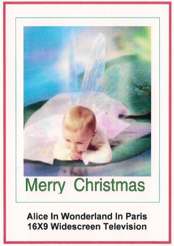 Alice In Wonderland In Paris: Greeting Card: Merry Christmas