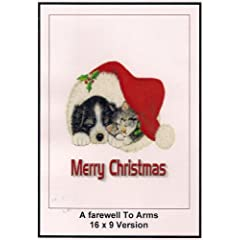 A Farewell To Arms: Widescreen TV. : Greeting Card: Merry Christmas
