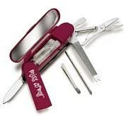 Miss Army Kit And Pocket Knife...In Magenta