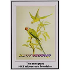 Charles Chaplin The Immigrant: 16x9 Widescreen TV.: Greeting Card: Happy Birthday