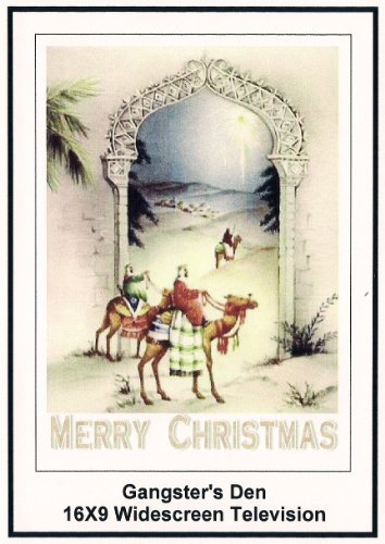 gangster's Den: 16x9 Widescreen TV.: Greeting Card: Merry Christmas