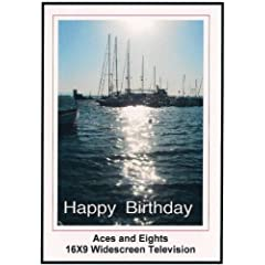 Aces and Eights: Widescreen TV: Greeting card: Merry Christmas