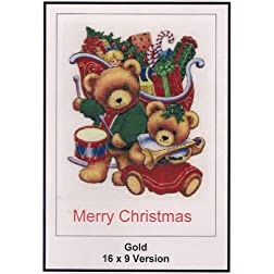 Gold: 16x9 Widescreen TV.: Greeting Card: Merry Christmas