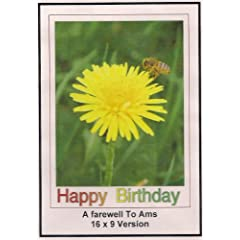 A Farewell To Arms: Widescreen TV.: Greeting card: Happy Birthday