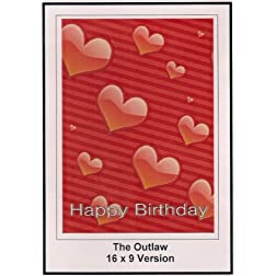 The Outlaw: Widescreen TV: Greeting Card: Happy Birthday