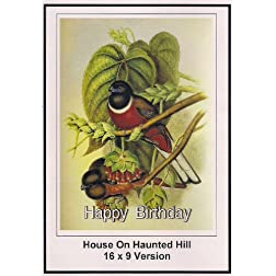 House On Haunted Hill: 16x9 Widescreen TV: Greeting Card: Happy Birthday