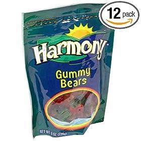 Amazon - 12 pounds of Harmony Foods Gummy Bears - $22.36 AC