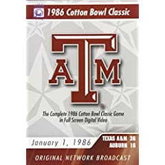 1986 Cotton Bowl Classic Game