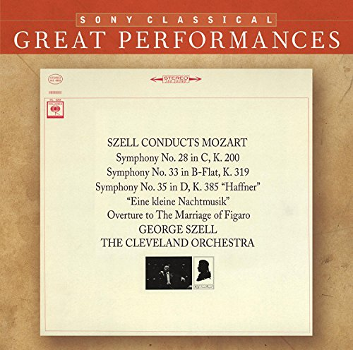 "Great Performances: Symphonies Nos. 28, 33, 35 / ""Eine Kleine Nachtmusik"" / ""The Marriage of Figaro"" Overture (Cleveland Orchestra feat. conductor: George Szell)"