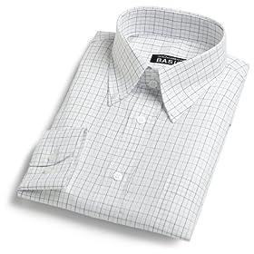 Dolce & Gabbana Men's Plaid Dress Shirt,White&Blue Plaid