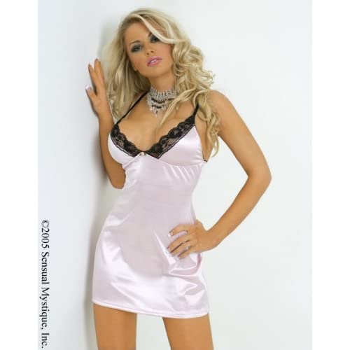 Stretch satin soft cup babydoll