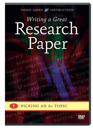 Writing a Great Research Paper: Picking an A+ Topic