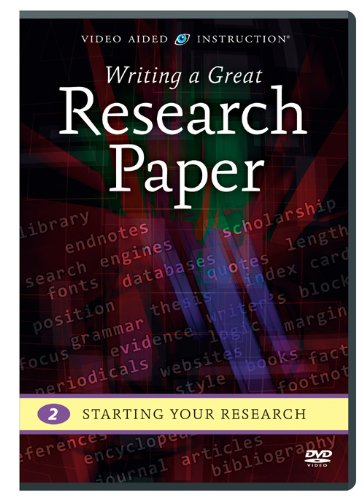 Writing a Great Research Paper: Starting Your Research