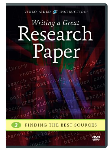 Writing a Great Research Paper: Finding the Best Sources