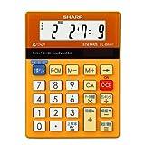 SHARP 脳を鍛える計算ドリル付き電卓 10桁 ミニミニサイズタイプ オレンジ EL-BM41-DX