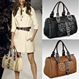 Apparel : Studded Weekender Travel Bag - Black, Brown or Beige :  handbag fashion bag cool