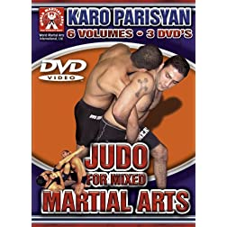 Karo Parisyan Judo for Mixed Martial Arts 3 Disc DVD 6 Volumes on 3 Dvds World Martial Arts International Groundfighter